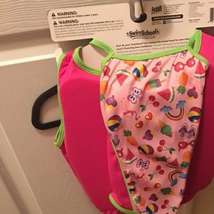 Swim - Scuba set. Life vest and swimsuit.